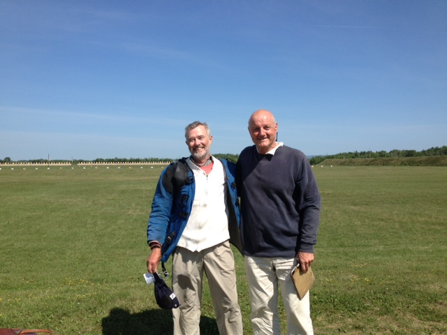 Jim Paton (Cda) and David Calvert (GB) after The Tunis shoot off in Ottawa. Jim Paton won.
